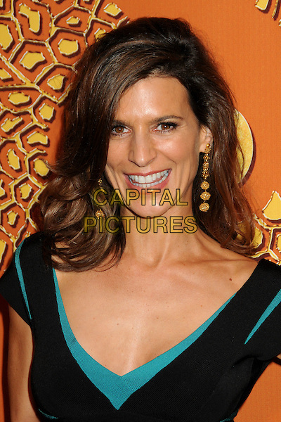 PERREY REEVES.HBO's 2010 67th Golden Globe Awards Post Party held at the Beverly Hilton Hotel, Beverly Hills, California, USA..January 17th, 2009.globes headshot portrait dangling gold earrings black blue turquoise .CAP/ADM/BP.©Byron Purvis/Admedia/Capital Pictures