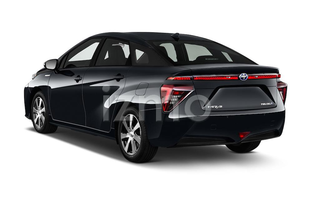 Car pictures of rear three quarter view of 2016 Toyota Mirai Mirai 4 Door Sedan Angular Rear