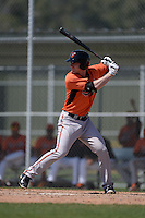 Baltimore Orioles Logan Uxa (55) during a minor league spring training game against the Boston Red Sox on March 18, 2015 at the Buck O'Neil Complex in Sarasota, Florida.  (Mike Janes/Four Seam Images)