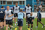 Carlisle United 1 Newcastle United 1, 21/07/2007. Brunton Park, Pre-season Friendly. Newcastle United players warm-up before a pre-season game against Carlisle United at the Cumbrian's Brunton Park ground. The match ended one goal each with Newcastle equalising Danny Livesey's opener through Nolberto Solano in the last minute. During the 2007-08 season Carlisle played in League One, English football's third tier, while Newcastle were a top Premiership team. Photo by Colin McPherson.