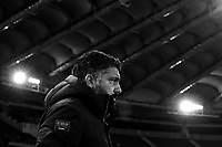 Gennaro Gattuso of AC Milan looks on ahead the Serie A 2018/2019 football match between AS Roma and AC Milan at stadio Olimpico, Roma, February 3, 2019 <br />  Foto Andrea Staccioli / Insidefoto <br /> (EDITOR'S NOTE: Image was converted in black and white)