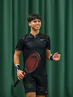 Wateringen, The Netherlands, March 16, 2018,  De Rhijenhof , NOJK 14/18 years, Nat. Junior Tennis Champ.  Sidane Pontjodikromo (NED)<br />  Photo: www.tennisimages.com/Henk Koster