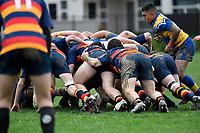 Hurricanes U15 Rugby - St Peter's College v John McGlashan College at Trentham Memorial Park, Upper Hutt, New Zealand on Thursday 5 September 2019. <br /> Photo by Masanori Udagawa. <br /> www.photowellington.photoshelter.com