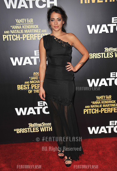 "Natalie Martinez at the premiere of her movie ""End of Watch"" at the Regal Cinemas LA Live..September 17, 2012  Los Angeles, CA.Picture: Paul Smith / Featureflash"