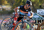 October 17, 2015 - Boulder, Colorado, U.S. - Men's elite cyclist, Daniel Summerhill #23, tops the steep run-up during the U.S. Open of Cyclocross, Valmont Bike Park, Boulder, Colorado.