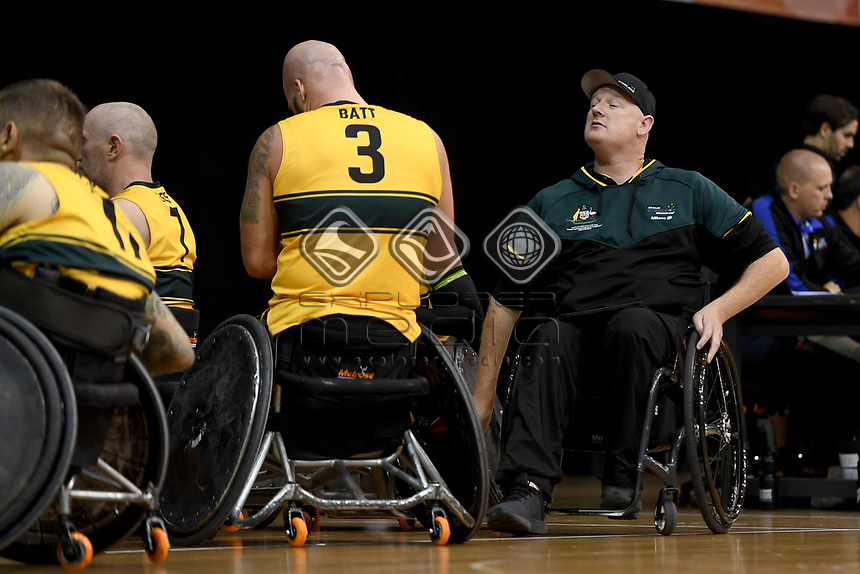 Brad Dubberley (AUS) vs Japan<br /> Australian Wheelchair Rugby Team<br /> 2018 IWRF WheelChair Rugby <br /> World Championship / Day 4<br /> Sydney  NSW Australia<br /> Wednesday 8th August 2018<br /> &copy; Sport the library / Jeff Crow / APC