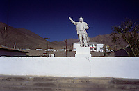 The Statue of Vladimir Ilitch Oulianov - Lenin, in Murghob Tadzhikistan..The M41 Highway from the Ismaili capital of Khorog to the south capital of Kyrgyzstan - Osh, via the head district of Badakhshan - Murgab and the Akbajtal Pass at 4655 meters.