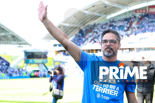 Huddersfield Town manager David Wagner waves at fans after the Premier League match between Huddersfield Town and Arsenal at the John Smith's Stadium, Huddersfield, England on 13 May 2018. Photo by Thomas Gadd / PRiME Media Images.