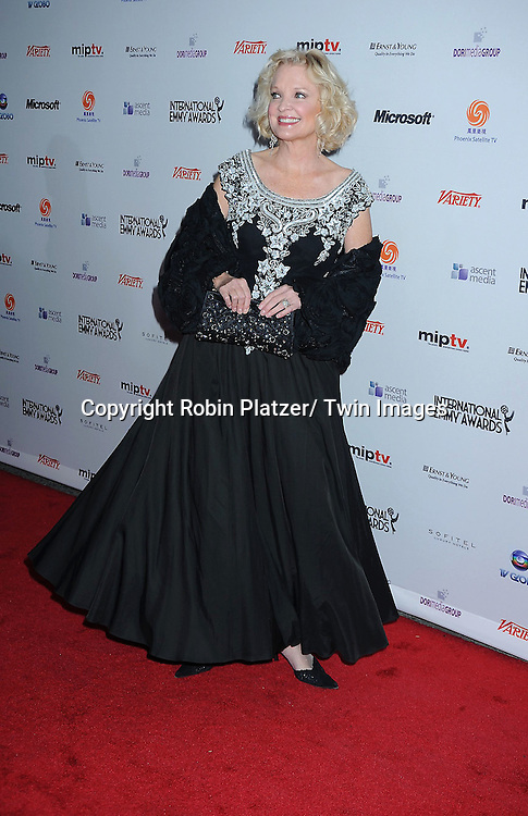 Christine Ebersole posing for photographers at The 38th Annual International Emmy Awards on November 22, 2010 at The New York Hilton Hotel.