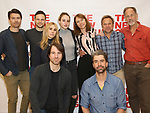 Noah Bean, Jonny Orsini, Zosia Mamet, Alex Hurt, Grace Van Patten, Dolly Wells, Hamish Linklater, Jon Devries and Norbert Leo Butz attend the photo call for The New Group's World Premiere of Hamish Linklater's 'The Whirligig'  at the New 42nd Street Studios on April 3, 2017 in New York City.