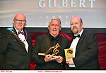 16-6-2019:  Oliver Hurley, Tralee Musical Society wins the Spirit Of AIMS award for perseverance and ingenuity in building the Chitty Car for Chitty Chitty Bang Bang award at the annual AIMS (Association of Irish Musical Societies) in the INEC Killarney at the weekend receiving the trophy from Seamus Power, President, AIMS left and Rob Donnelly, Vice-President.<br /> Photo: Don MacMonagle - macmonagle.com<br /> <br /> repro free photo from AIMS<br /> <br /> AIMS PRESS RELEASE: There was plenty of glitz and glamour in Killarney on Saturday night as The Association of Irish Musical Societies has its Annual Awards Ceremony in Killarney. Over 1,500 people could be heard over the Kerry mountains as the winners were announced by MC Fergal D'Arcy. Many societies were double winners on the night including UCD Musical Society, Dublin were dancing all the way to the trophies winning Best Choreography and Best Choreographer for Leah Meagher for Cabaret and  Tullamore Musical Society who took their moment as Chris Corroon won Best Male Singer for his sinful performance as Henry Jekyll in Jekyll &Hyde and also Director Paul Norton who'd plenty to celebrate picking Best Director for  the same show. The moment was once again taken by Jekyll&Hyde by Dùn Laoighaire Musical&Dramatic Society as Kevin Hartnett took up Best Male Singer in the Sullivan category.Nenagh Youth Musical Society raised their voices high and took home Best Ensemble. It was a superior night for Enniscorthy Musical Society by winning Best Comedienne for Jennifer Byrne as Mother Superior and Best Technical too. Portlaoise Musical Society rose to the top by taking home Best Overall Show in the Gilbert section for their stunning production of Titanic. Oyster Lane Theatre Group, Wexford flew their flag high taking home Best Overall Show in the Sullivan Section for their breathtaking production of Michael Collins-a Musical Drama.<br /> Other winners on the night included Best Comedian for Ronan Walsh as Officer Lockstock in Urinetown for Trim Music