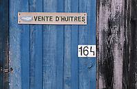 Europe/France/Aquitaine/33/Gironde/Bassin d'Arcachin/La Teste de Buch: Le port ostréïcole détail cabanon d'ostréïculteur