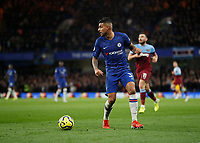 30th November 2019; Stamford Bridge, London, England; English Premier League Football, Chelsea versus West Ham United; Emerson Palmieri of Chelsea - Strictly Editorial Use Only. No use with unauthorized audio, video, data, fixture lists, club/league logos or 'live' services. Online in-match use limited to 120 images, no video emulation. No use in betting, games or single club/league/player publications