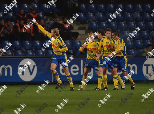 BVB / Westerlo - Racing Mechelen: Chris Janssens (L) scoorde de 1-0
