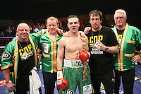 Matthew Macklin (Birmingham, green shorts) defeats Wayne Elcock (Birmingham, blue/white shorts) in a middleweight contest from the british title at the Aston Events Centre, Birmingham, promoted by .Hennessy sports - 14/03/09 - MANDATORY CREDIT: Chris Royle/TGSPHOTO - Self billing applies where appropriate - Tel: 0845 094 6026.