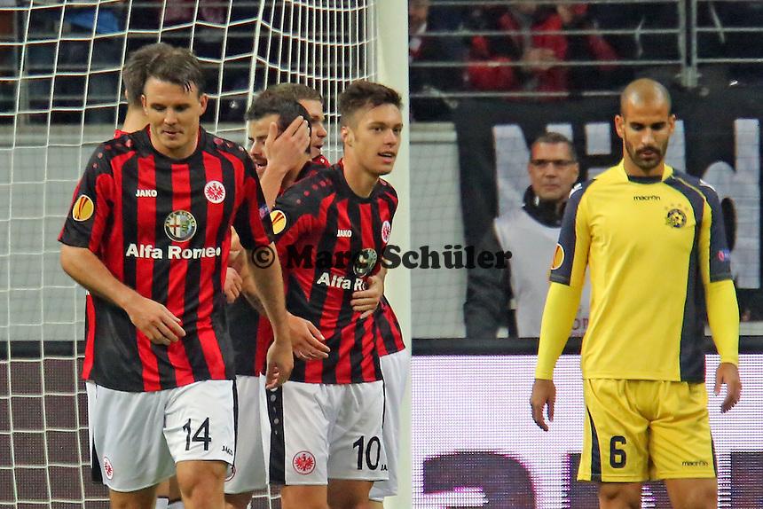 Torjubel beim 1:0 um Vaclav Kadlec (Eintracht) - Eintracht Frankfurt vs. Macabi Tel Aviv, Europa League 3. Spieltag