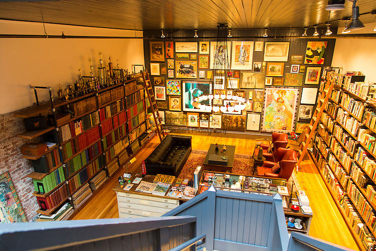 The collections of ephemera inside the home of Thomas Lauderdale of the band, Pink Martini