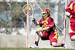Los Angeles, CA 02/20/10 - Alex Rice (USC # 20) in action during the USC-Loyola Marymount University MCLA/SLC divisional game at Leavey Field (LMU).  LMU defeated USC 10-7.