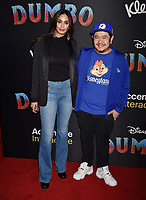 HOLLYWOOD, CA - MARCH 11: Elishia Perosa (L) and Eric Bauza attend the premiere of Disney's 'Dumbo' at El Capitan Theatre on March 11, 2019 in Los Angeles, California.<br /> CAP/ROT/TM<br /> &copy;TM/ROT/Capital Pictures