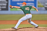 Greensboro Grasshoppers pitcher Colton Hock (40) delivers a pitch during a game against the Asheville Tourists at McCormick Field on May 11, 2018 in Asheville, North Carolina. The Tourists defeated the Grasshoppers 10-5. (Tony Farlow/Four Seam Images)