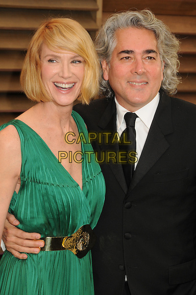 02 March 2014 - West Hollywood, California - Kelly Lynch, Mitch Glazer. 2014 Vanity Fair Oscar Party following the 86th Academy Awards held at Sunset Plaza.  <br /> CAP/ADM/BP<br /> &copy;Byron Purvis/AdMedia/Capital Pictures