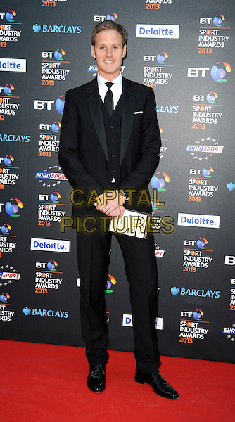 Dan Walker.Attending the BT Sport Industry Awards at Battersea Evolution, London, England, UK, May 2nd 2013..full length black suit tie waistcoat.CAP/PP/GM.©Gary Mitchell/PP/Capital Pictures