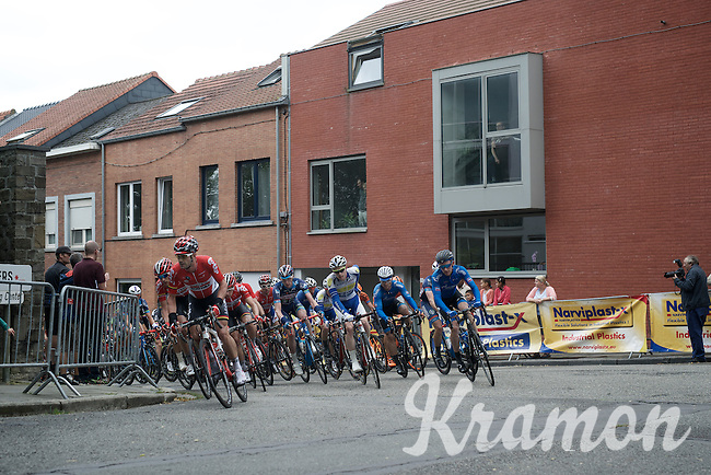 Team Lotto-Soudal leading the peloton over the Wijnpersstraat<br /> <br /> 50th GP Jef Scherens 2016