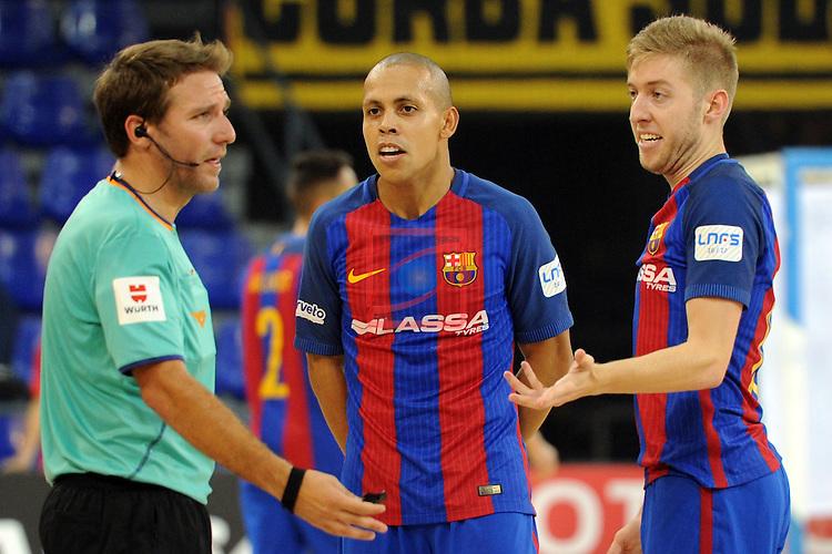League LNFS 2016/2017 - Game 4.<br /> FC Barcelona Lassa vs Gran Canaria FS: 4-2.<br /> Juan Cerda, Ferrao &amp; Bateria.