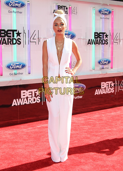Los Angeles, CA - June 29:  Mia Pia attends the 2014 BET Awards at The Nokia Theatre  in Los Angeles, California on June 29, 2014.  <br /> CAP/MPI/RTNUPA<br /> &copy;RTNUPA/MediaPunch/Capital Pictures