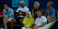 CHERILYN & GLYNN HEWITT watching LLEYTON HEWITT (ESP) against FERNANDO VERDASCO (ESP) in the group stage of the Hopman Cup. Spain beat Australia 6-3 3-6 7-5..01/01/2012, 1st January 2012, 01.01.2012..The HOPMAN CUP, Burswood Dome, Perth, Western Australia, Australia.@AMN IMAGES, Frey, Advantage Media Network, 30, Cleveland Street, London, W1T 4JD .Tel - +44 208 947 0100..email - mfrey@advantagemedianet.com..www.amnimages.photoshelter.com.