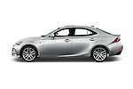 Car Driver side profile view of a 2016 Lexus IS F Sport Line 4 Door Sedan Side View