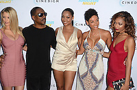 HOLLYWOOD, CA - JULY 25: Paige Butcher, Eddie Murphy, Bria Murphy, Nicole Murphy and Shayne Murphy at the Premiere Of Cinedigm's 'Amateur Night' at ArcLight Hollywood on July 25, 2016 in Hollywood, California. Credit: David Edwards/MediaPunch