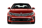 Car photography straight front view of a 2018 KIA Optima SX 4 Door Sedan Front View