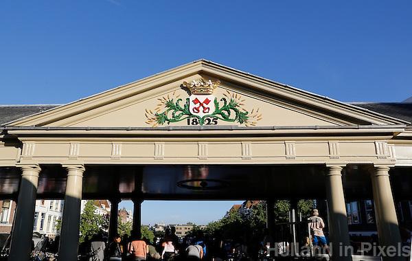 Nederland Leiden. De Korenbrug met het wapen van Leiden : Twee sleutels.  Foto Berlinda van Dam / Hollandse Hoogte