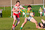 An Ghaeltacht  Dara Ó Sé and Lios Póil Tomas Ó Caomhanach in an action during the West Kerry League final that was played at Pairc an Aghasaigh, Dingle, on Saturday evening.