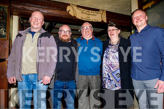 Manus, Terry, Danny, Sandra and Danny Jnr Leen in the Abbey Inn on their closing night as the bar closes after 51 years.