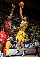 Jorge Gutierrez of California shoots the ball during the game against Arizona at Haas Pavilion in Berkeley, California on February 2nd, 2012.  Arizona defeated California, 78-74.