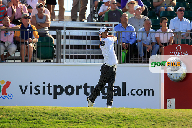 Thorbjorn Olesen (DEN) tees off the 1st tee during Friday's Round 2 of the Portugal Masters at the Oceanico Victoria Golf Course, Vilamoura, Portugal 12th October 2012 (Photo Eoin Clarke/www.golffile.ie)