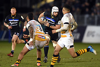 Dave Attwood of Bath Rugby in possession. Heineken Champions Cup match, between Bath Rugby and Wasps on January 12, 2019 at the Recreation Ground in Bath, England. Photo by: Patrick Khachfe / Onside Images