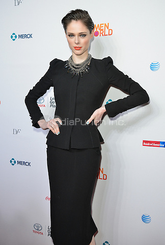 NEW YORK, NY - APRIL 3: Coco Rocha attending the 5th annual Women in the World summit at the David H. Koch Theater at Lincoln Center in New York, New York on April 3, 2014. Photo Credit: RTNThompson/MediaPunch.