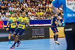 Mads MENSAH LARSEN (#22 Rhein-Neckar Loewen) \ beim Spiel in der Handball Bundesliga, SG BBM Bietigheim - Rhein Neckar Loewen.<br /> <br /> Foto &copy; PIX-Sportfotos *** Foto ist honorarpflichtig! *** Auf Anfrage in hoeherer Qualitaet/Aufloesung. Belegexemplar erbeten. Veroeffentlichung ausschliesslich fuer journalistisch-publizistische Zwecke. For editorial use only.