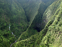 Molokai, Pelekunu Valley and waterfalls