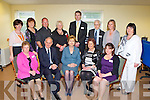 The Directors with President Mary McAleese during her visit to the Killorglin Family resource on Friday front row l-r: Maureen Gamble,Dr Martin McAleese, President Mary McAleese, Margaret Wrenn, Noleen Gamble. Back row: Kathleen Moriss, Margaret Mangan, Anthony O'Sullivan, Helen O'Shea, Simon Champ, Paddy O'Donoghue, Lorraine Ahern and Kathleen Bailey....