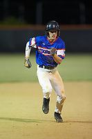 Trent Little (1) of Mooresville Post 66 takes off for third base against Kannapolis Post 115 during an American Legion baseball game at Northwest Cabarrus High School on May 30, 2019 in Concord, North Carolina. Mooresville Post 66 defeated Kannapolis Post 115 4-3. (Brian Westerholt/Four Seam Images)