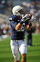 20 September 2014:  Penn State TE Jesse James (18). The Penn State Nittany Lions defeated the University of Massachusetts Minutemen 48-7 at Beaver Stadium in State College, PA.