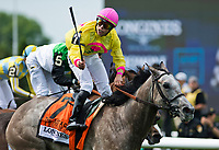 ELMONT, NY - JUNE 09: A Raving Beauty  #7, ridden by Irad Ortiz, Jr., wins the Longines Just a Game Stakes on Belmont Stakes Day at Belmont Park on June 9, 2018 in Elmont, New York. (Photo by Eric Patterson/Eclipse Sportswire/Getty Images)