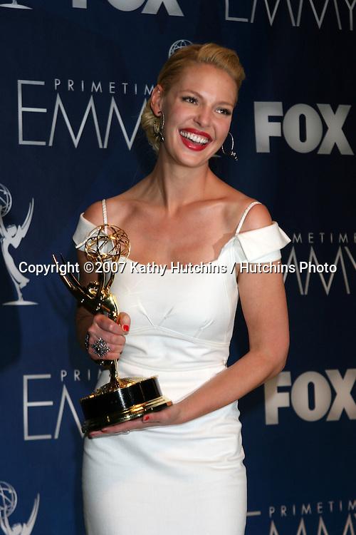Kathryn Heigl.Emmy Awards 2007 - Press Room.Shrine Auditorium.Los Angeles,  CA.September 16, 2007.©2007 Kathy Hutchins / Hutchins Photo...               .