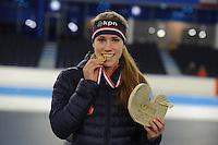 SCHAATSEN: HEERENVEEN: 04-02-2017, KPN NK Junioren, Junioren B1 Dames, Maud Lugters, ©foto Martin de Jong