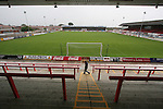 Morecambe Football Club's Christie Park. The club was preparing for the club's first-ever season in the Football League having been promoted from the Conference the previous season.  Photo by Colin McPherson.
