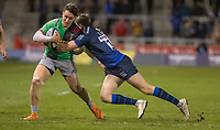 3rd January 2020; AJ Bell Stadium, Salford, Lancashire, England; English Premiership Rugby, Sale Sharks versus Harlequins;  Cadan Murley of Harlequins is tackled by man of the match  Sam James of Sale Sharks  - Editorial Use